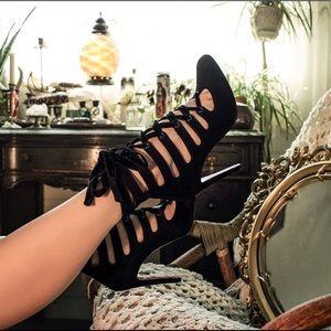 Christian Louboutin | Spinetita Velvet Cage Heels